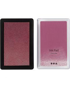 Tampone inchiostrato, H: 2 cm, misura 9x6 cm, rosato scuro, 1 pz