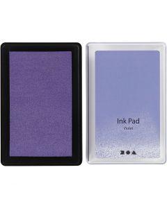 Tampone inchiostrato, H: 2 cm, misura 9x6 cm, violetto, 1 pz
