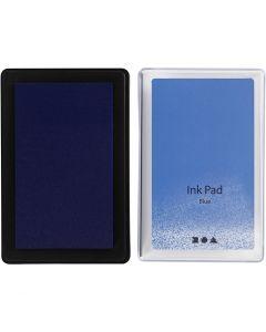 Tampone inchiostrato, H: 2 cm, misura 9x6 cm, blu, 1 pz