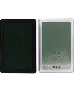 Tampone inchiostrato, H: 2 cm, misura 9x6 cm, verde lime, 1 pz