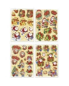 Motivi decoupage 3D, Babbo Natale e orsetti, 21x30 cm, 4 fgl./ 1 conf.