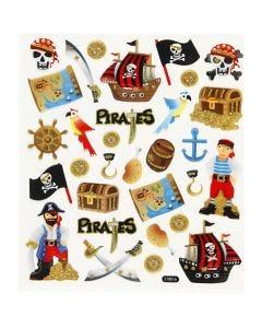 Stickers fenicotteri, pirati, 15x16,5 cm, 1 fgl.