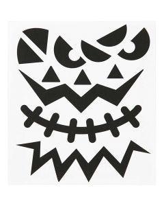 Stickers fenicotteri, Halloween - facce, 15x16,5 cm, 1 fgl.