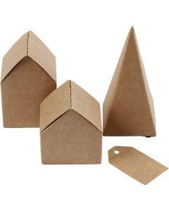 Case e alberi fustellati, H: 5,7-10 cm cm, 1 set