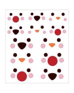 Stickers, animali polari e occhi, 15x16,5 cm, 1 fgl.