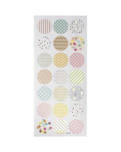 Stickers pastelli, pastelli, 10x23 cm, 1 fgl.