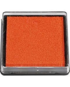 Tampone di inchiostro per timbri, misura 40x40 mm, arancio, 1 pz