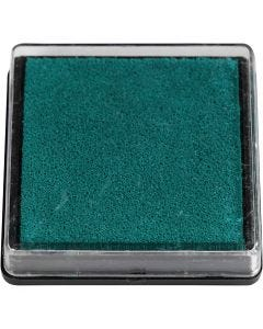Tampone di inchiostro per timbri, misura 40x40 mm, verde, 1 pz