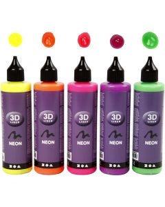 3D Liner, colori neon, 5x100 ml/ 1 conf.