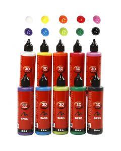 3D Liner, colori asst., 10x100 ml/ 1 conf.