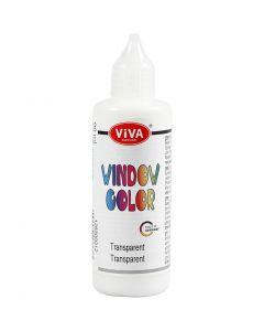 Colore per vetro, transparent, 90 ml/ 1 bott.