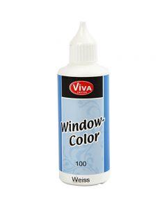 Colore per vetro, bianco, 80 ml/ 1 bott.