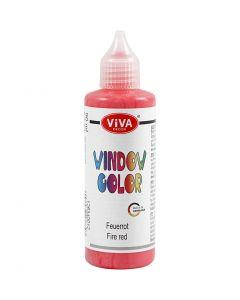 Colore per vetro, rosso, 90 ml/ 1 bott.