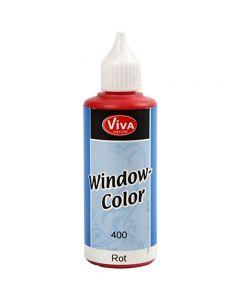 Colore per vetro, rosso, 80 ml/ 1 bott.
