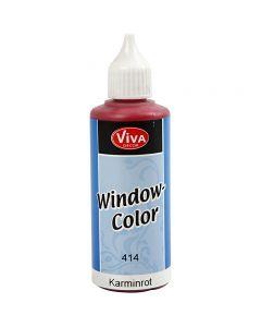 Colore per vetro, rosso carmine, 80 ml/ 1 bott.
