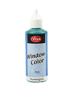 Colore per vetro, verde scuro, 80 ml/ 1 bott.