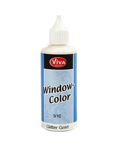 Colore per vetro, oro glitter, 80 ml/ 1 bott.