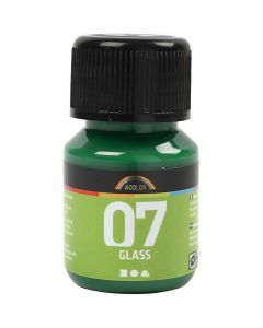 A-Color Glass , verde brillante, 30 ml/ 1 bott.