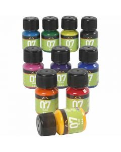 A-Color Glass , colori asst., 10x30 ml/ 1 conf.