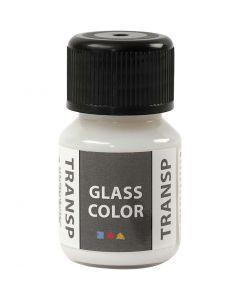 Colore trasparente per vetro, bianco, 30 ml/ 1 bott.