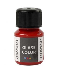 Colore trasparente per vetro, rosso, 30 ml/ 1 bott.