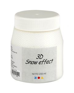Effetto neve 3D, bianco, 250 ml/ 1 vasch.