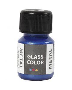 Colore metallico per vetro, blu, 30 ml/ 1 bott.