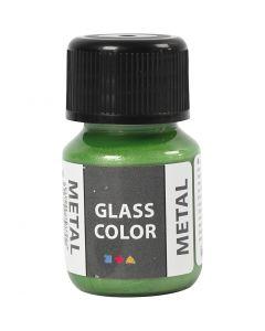 Colore metallico per vetro, verde, 30 ml/ 1 bott.
