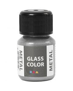 Colore metallico per vetro, argento, 30 ml/ 1 bott.