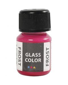 Colore satinato per vetro, rosso, 30 ml/ 1 bott.