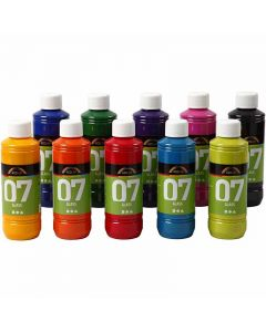 A-Color Glass , colori asst., 10x250 ml/ 1 scat.
