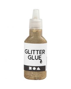 Colla glitter, oro, 25 ml/ 1 bott.