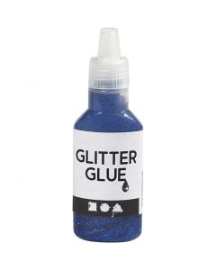 Colla glitter, blu scuro, 25 ml/ 1 bott.