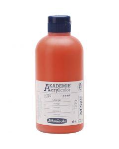 Pittura acrilica Schmincke AKADEMIE®, semi transparent, arancio (230), 500 ml/ 1 bott.