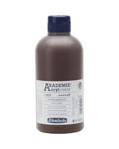 Pittura acrilica Schmincke AKADEMIE®, opaca, terra d'ombra bruciata (669), 500 ml/ 1 bott.