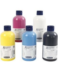 Pittura acrilica Schmincke AKADEMIE®, 5x500 ml/ 1 conf.
