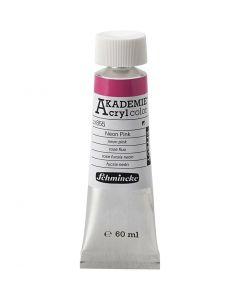 Pittura acrilica Schmincke AKADEMIE®, rosa neon (855), 60 ml/ 1 bott.