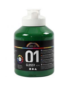 A-Color pittura acrilica, dim. 01, brillante, verde scuro, 500 ml/ 1 bott.