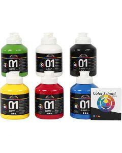 A-Color pittura acrilica, brillante, colore primario, 6x500 ml/ 1 conf.