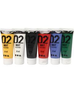 A-Color pronta da mischiare, opaco, colori standard, 6x20 ml/ 1 conf.