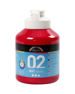 A-Color pronta da mischiare, dim. 02, opaco, rosso primario, 500 ml/ 1 bott.
