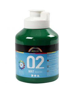A-Color pronta da mischiare, dim. 02, opaco, verde scuro, 500 ml/ 1 bott.