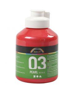 A-Color pittura acrilica, dim. 03, metallico, rosso, 500 ml/ 1 bott.