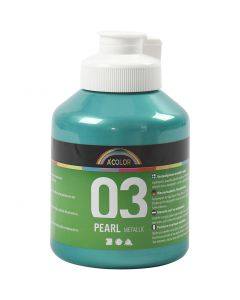 A-Color pittura acrilica, metallico, verde, 500 ml/ 1 bott.