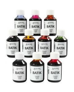 Tinta per tessuto, colori asst., 10x100 ml/ 1 conf.