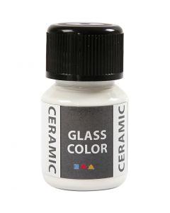 Pittura per vetro e ceramica, bianco, 35 ml/ 1 bott.