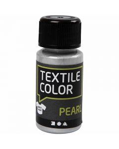Colore per tessuti, madreperla, argento, 50 ml/ 1 bott.