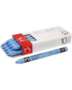 Neocolor I Pastelli, L: 10 cm, spess. 8 mm, light blue (161), 10 pz/ 1 conf.