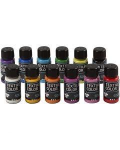 Base per tessuti, opaca, colori asst., 12x50 ml/ 1 conf.