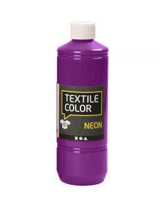 Colore per tessuti, lilla neon, 500 ml/ 1 bott.